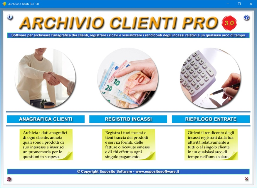 Archivio clienti pro software per creare un database for Creatore di piano casa gratuito
