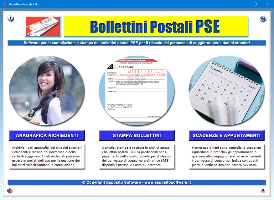 Bollettini Postali PSE - Software per la compilazione e stampa dei ...