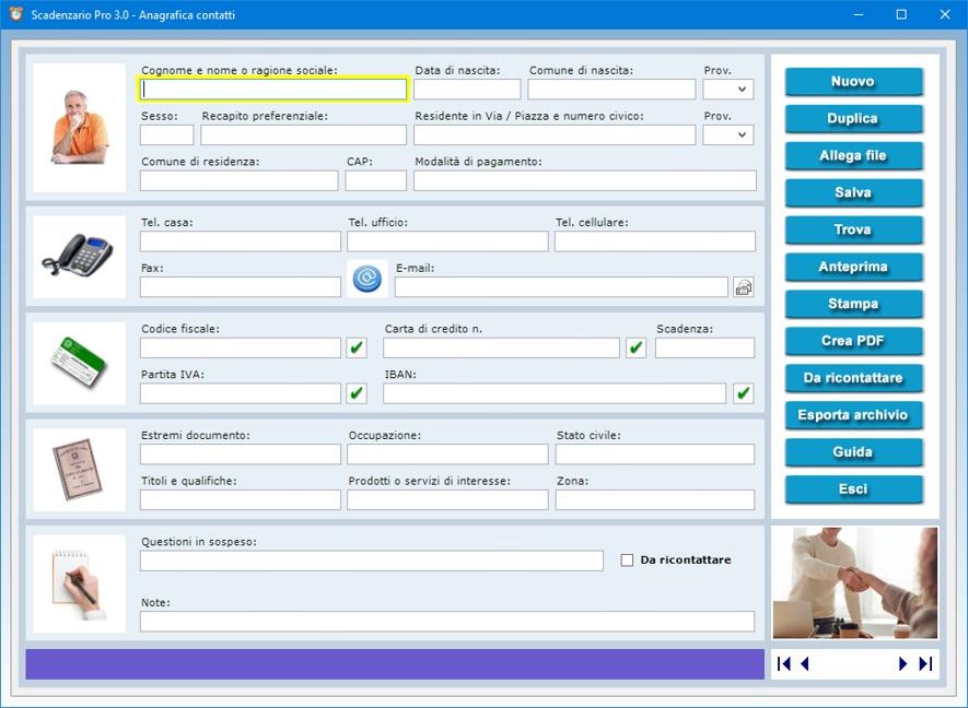 Scadenzario pro 3 0 software per gestire scadenze e for Programma per arredare casa on line gratis