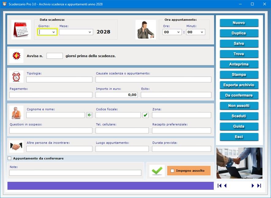 Scadenzario pro 3 0 software per gestire scadenze e - Scadenze di pagamento ...